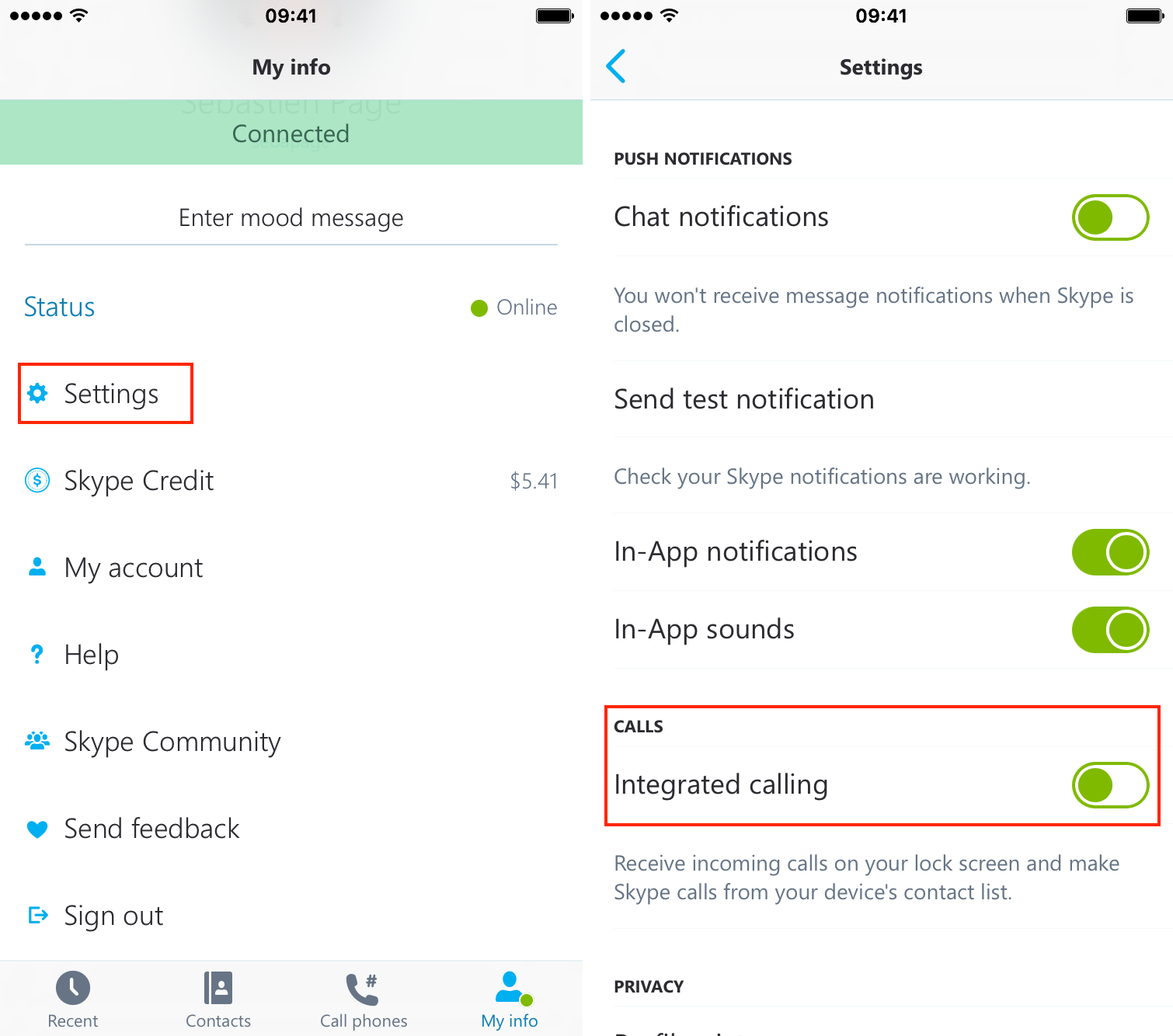iphone call log settings how to hide skype calls from the phone app on your iphone 15200
