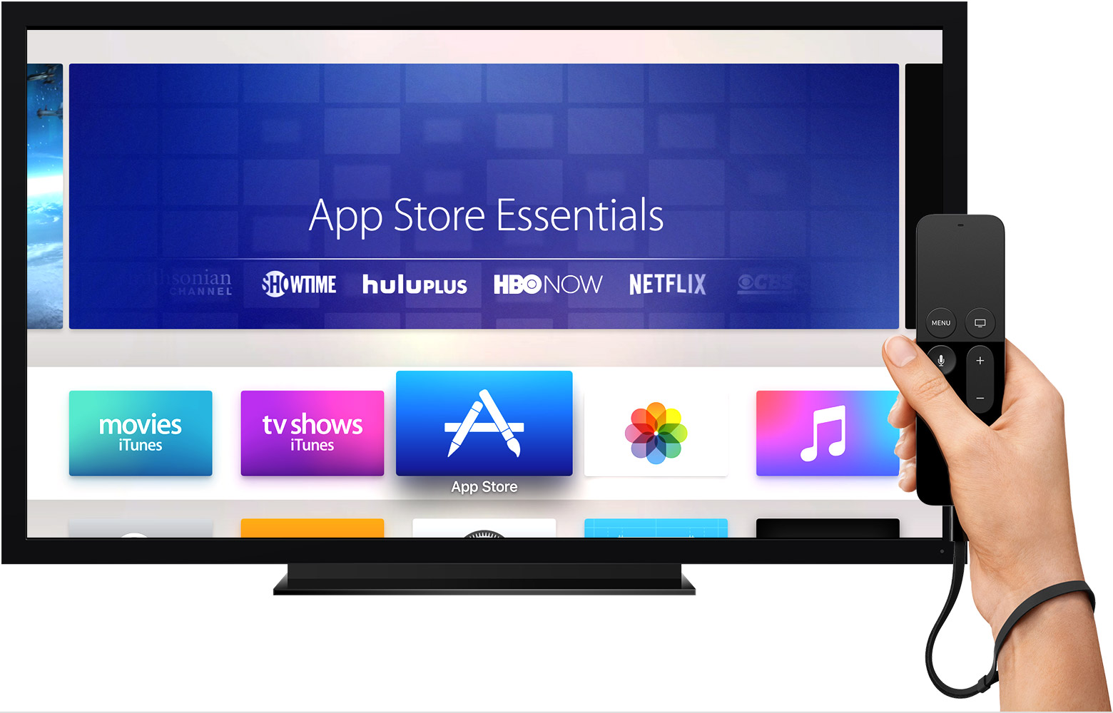 tvOS 10 App Store Apple TV Siri Remote teaser 001