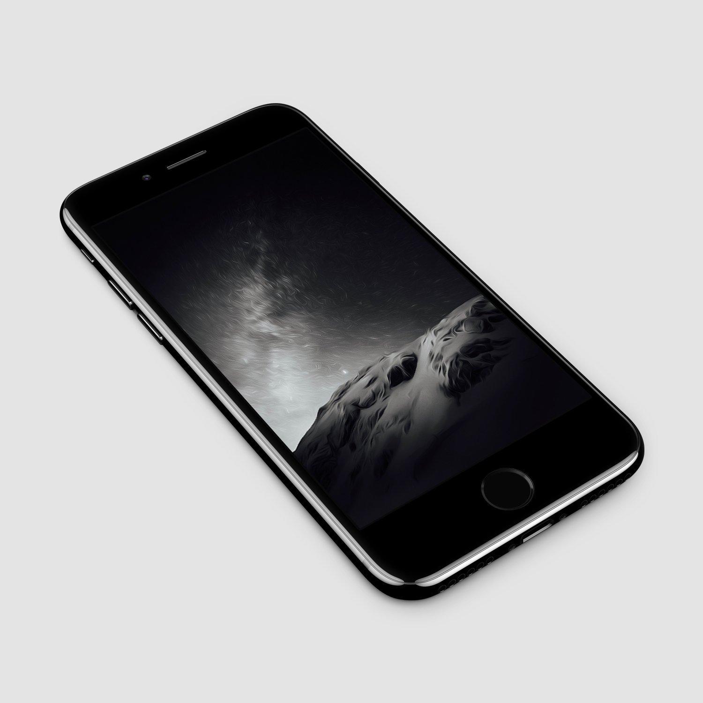 AR72014 black and white mountain splash