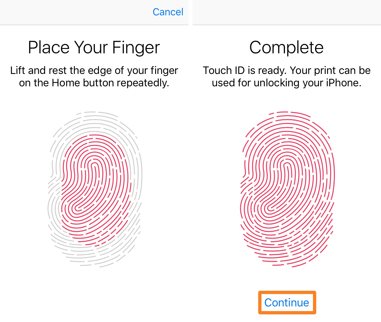 Add Touch ID Finger 3