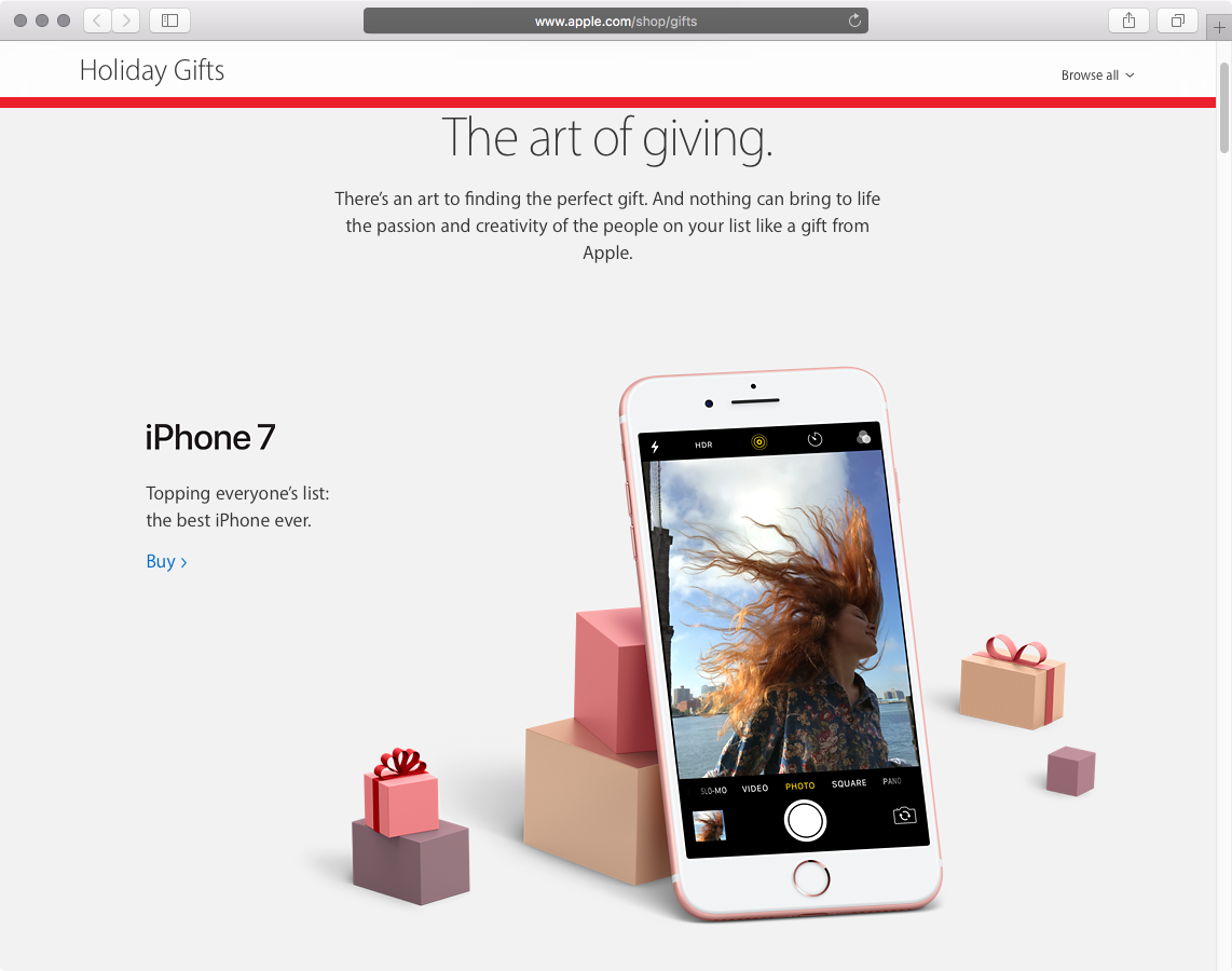 Apple 2016 holiday gift guide