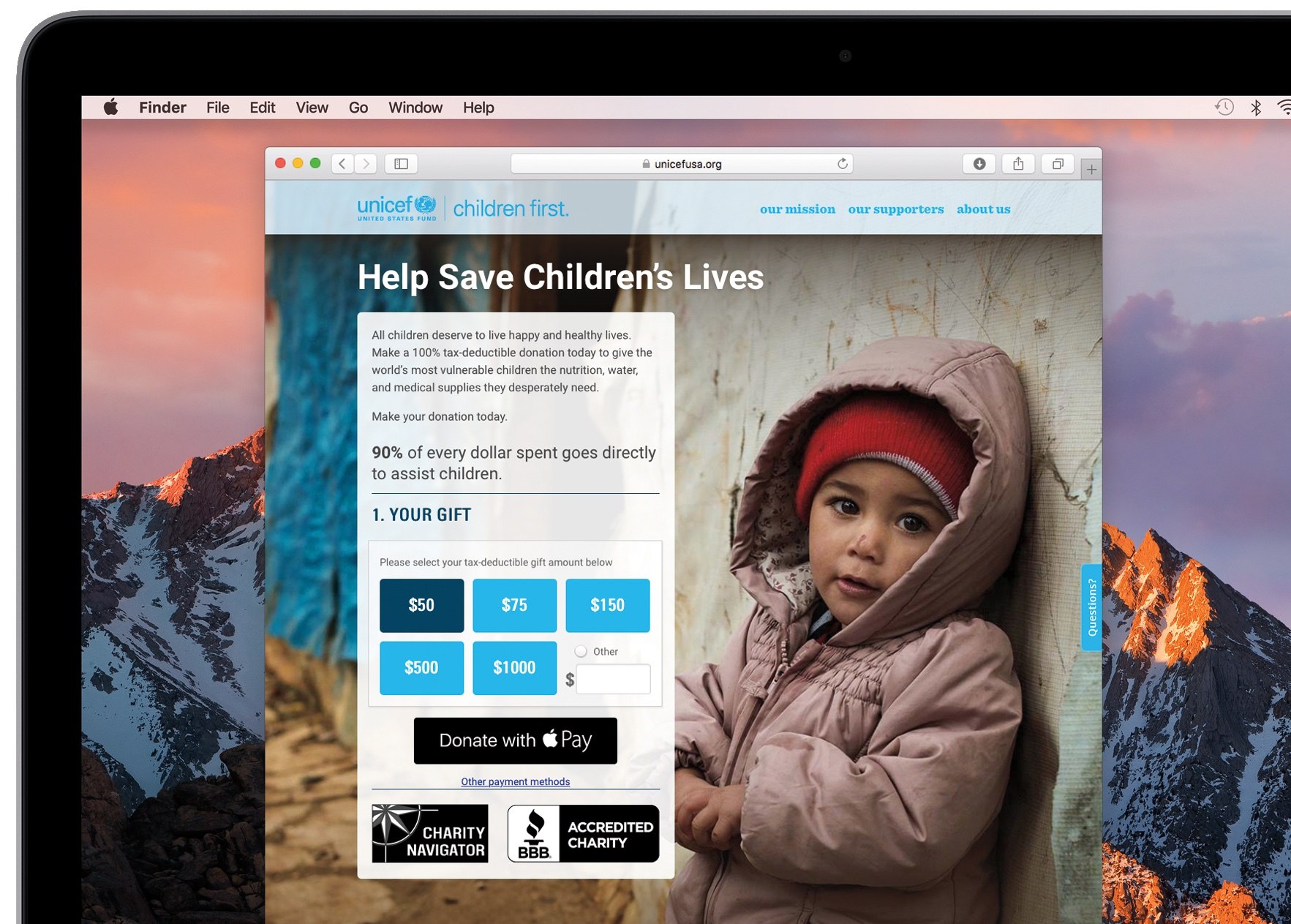 Apple PAy donations Unicef 001