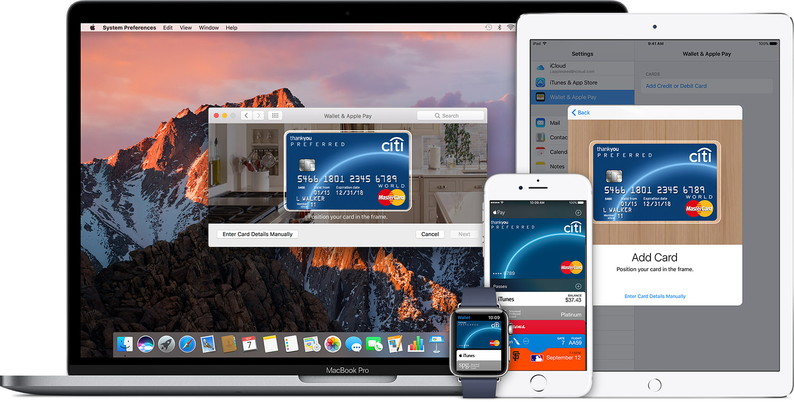 Apple Pay iPhone iPad Apple Watch Mac teaser 001
