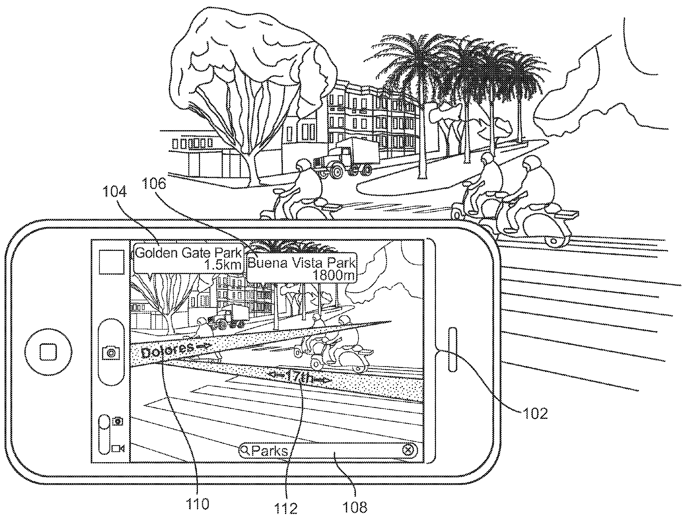 Apple patent augmented reality maps drawing 002