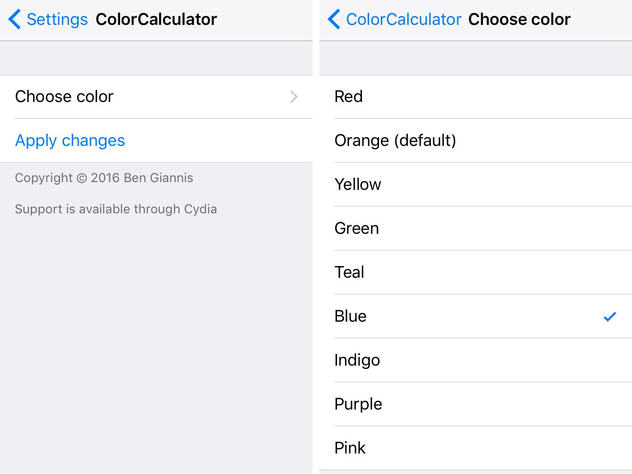 ColorCalculator Prefs