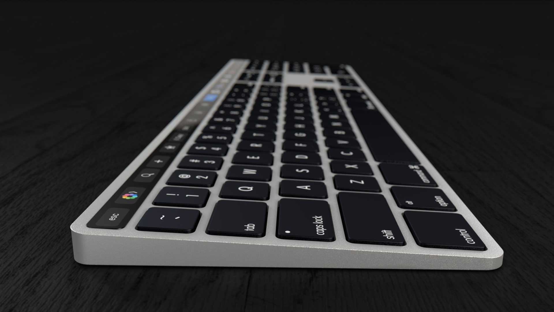 beautiful concept envisions apple extended keyboard with touch bar. Black Bedroom Furniture Sets. Home Design Ideas