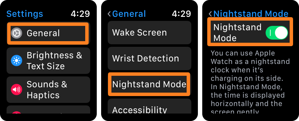 Enable Nightstand Mode on Apple Watch