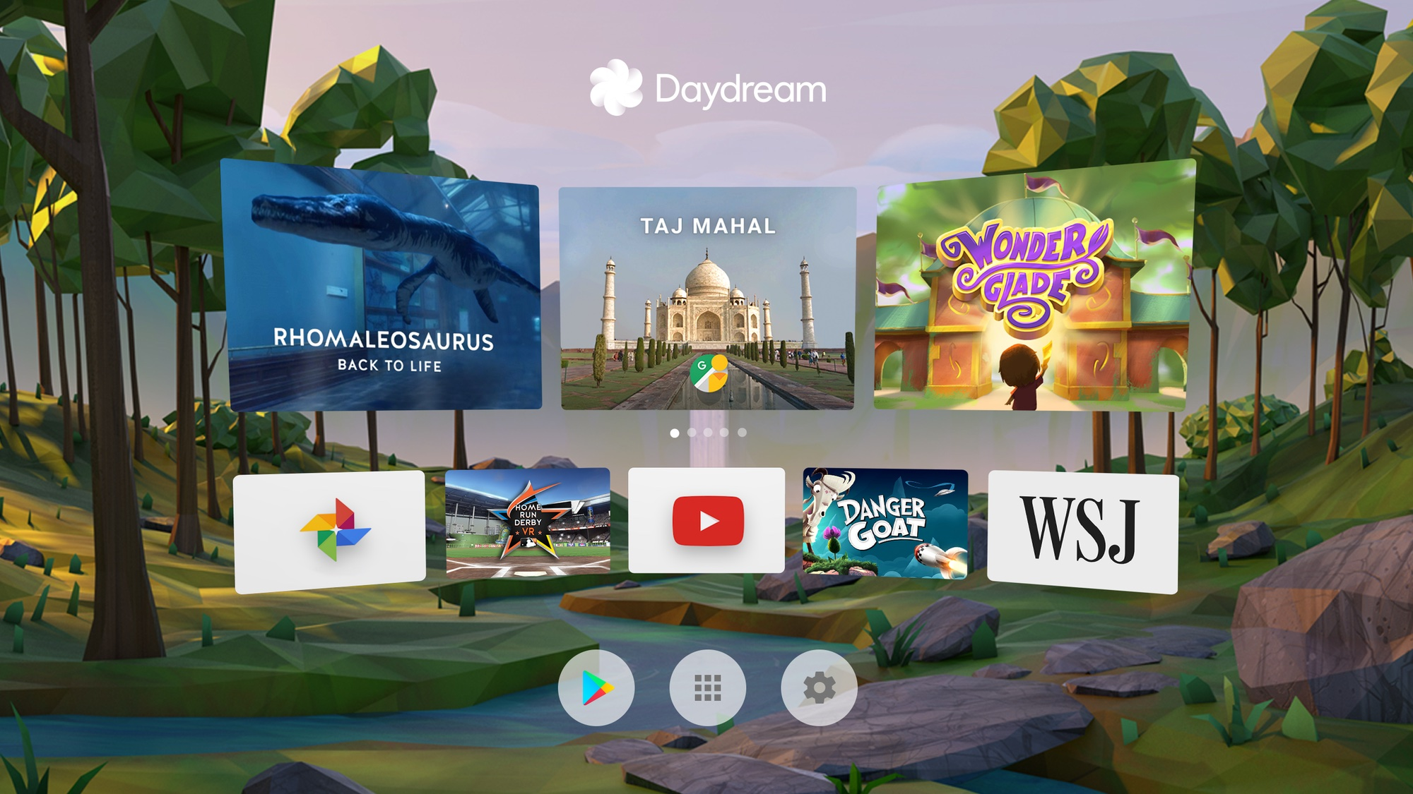 Google Daydream View Home screen 002