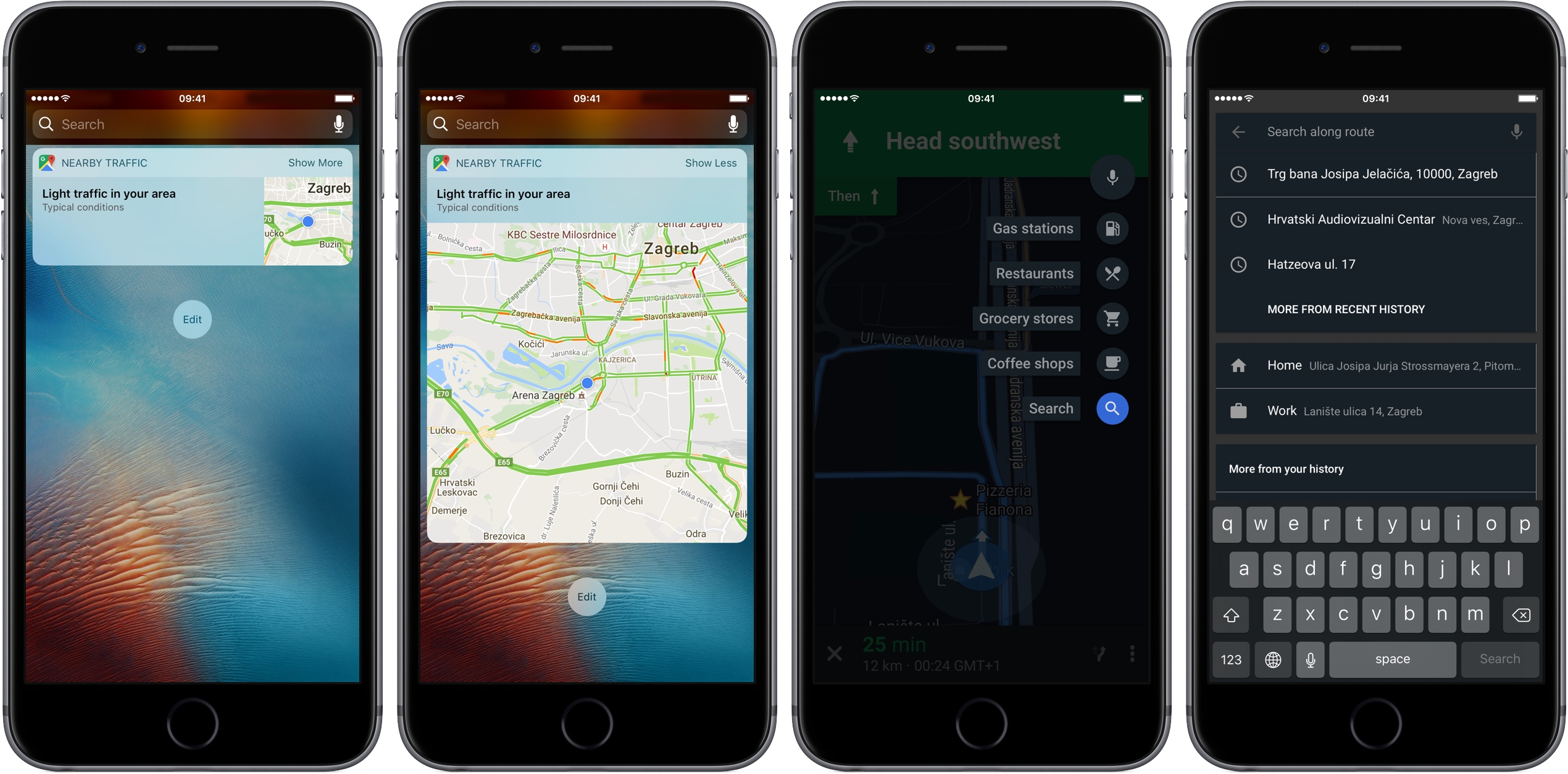 Google Maps for iOS updated with searching along route and ... on google maps update, google maps screenshot, google maps path,