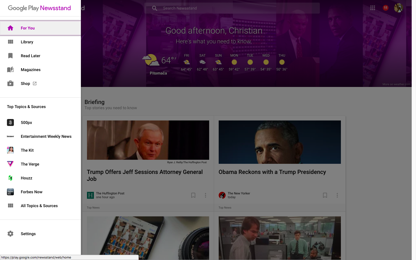 Google Play Newsstand web screenshot 001