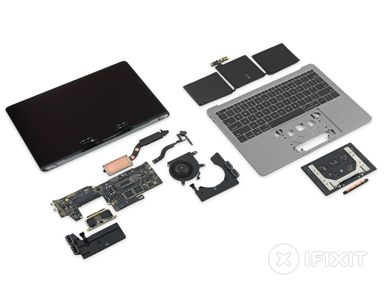 MacBook Pro 2016 No Touch Bar Teardown