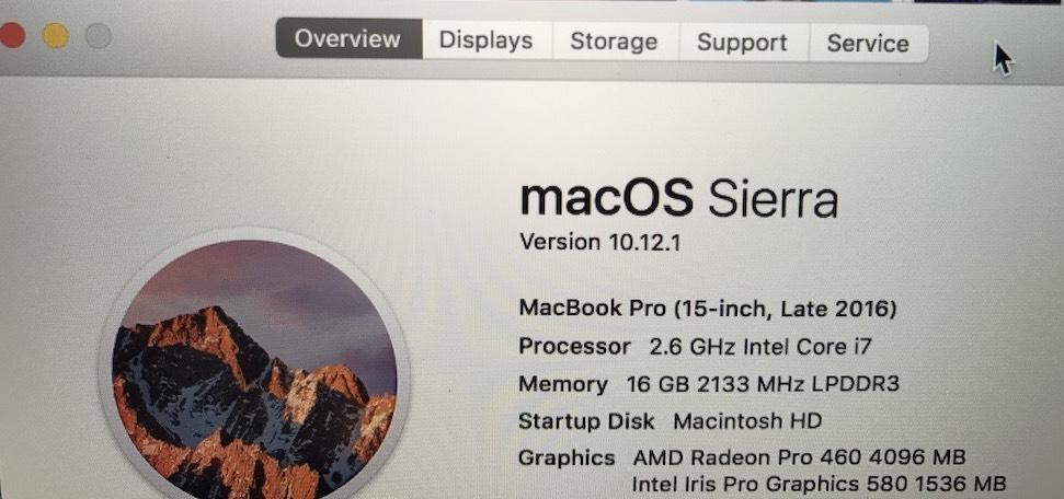 MacBook Pro misidentified GPU macOS System Profiler screenshot 002