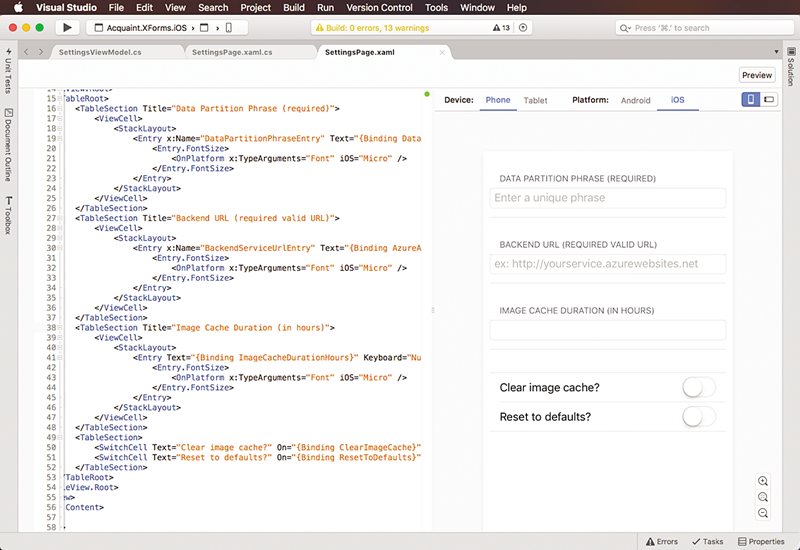 Microsoft Visual Studio for Mac screenshot 001