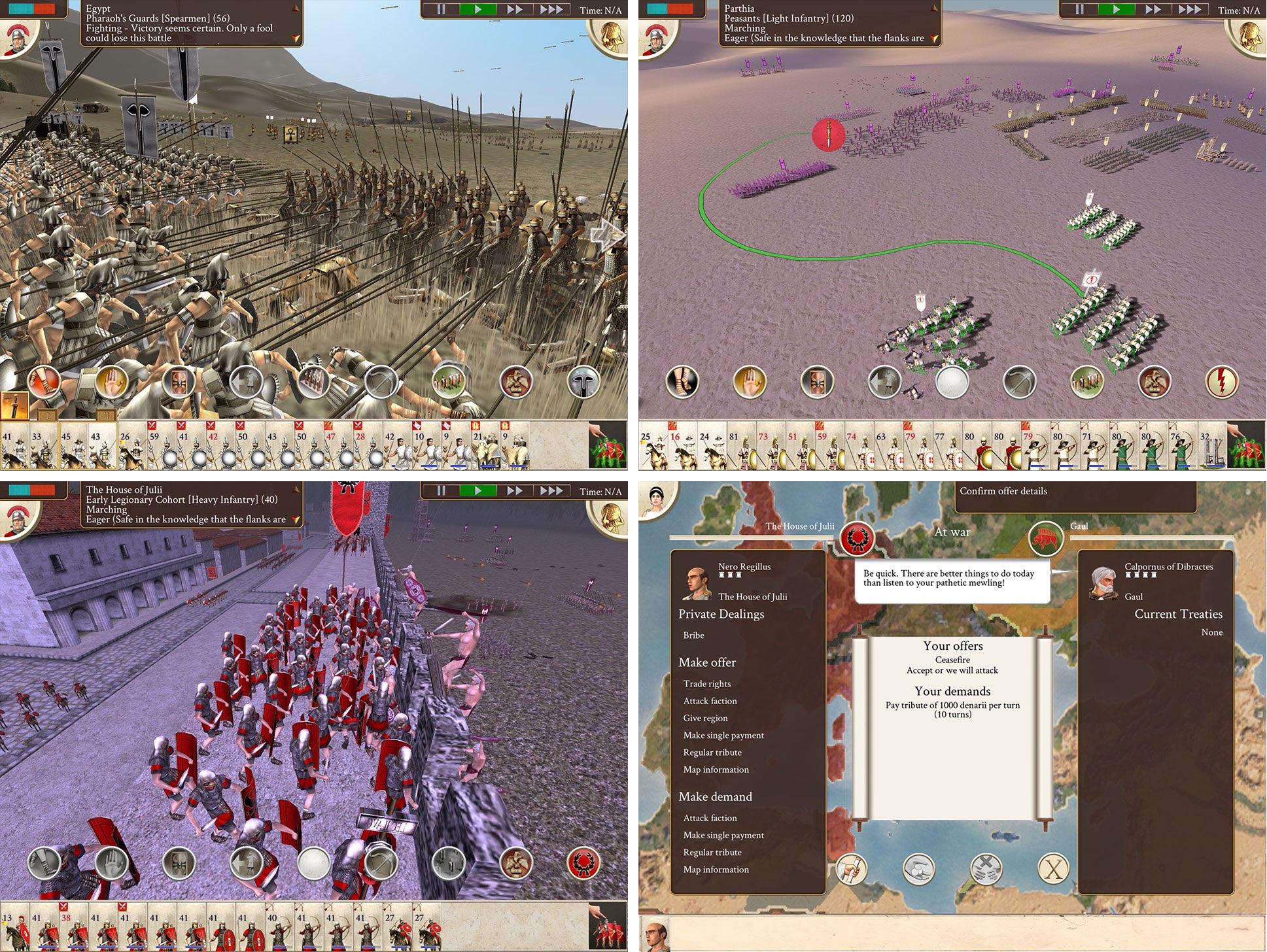 Rome Total War iPad screenshot 001