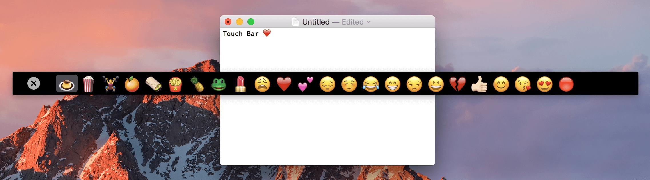Aplicación de demostración Touch Bar teaser 002