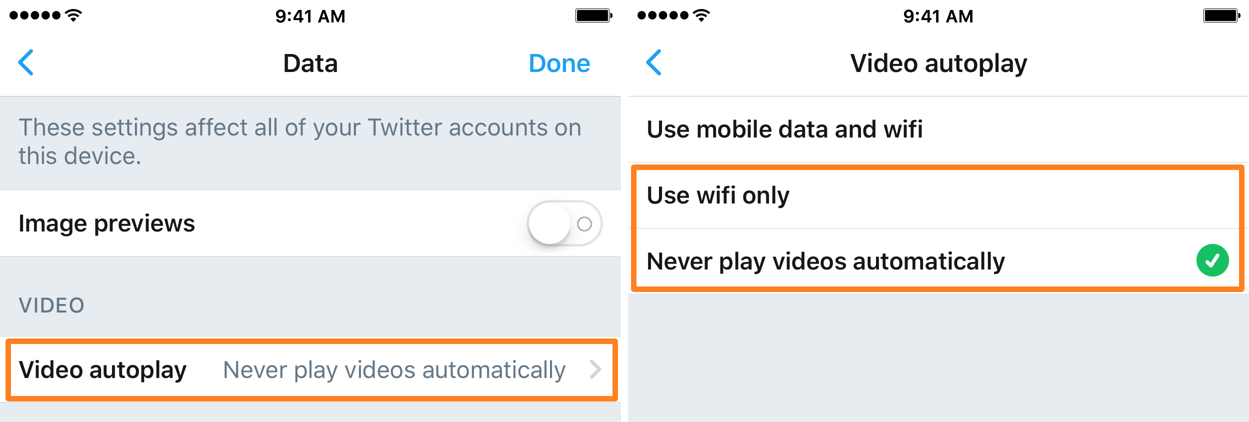Twitter Settings Data 2