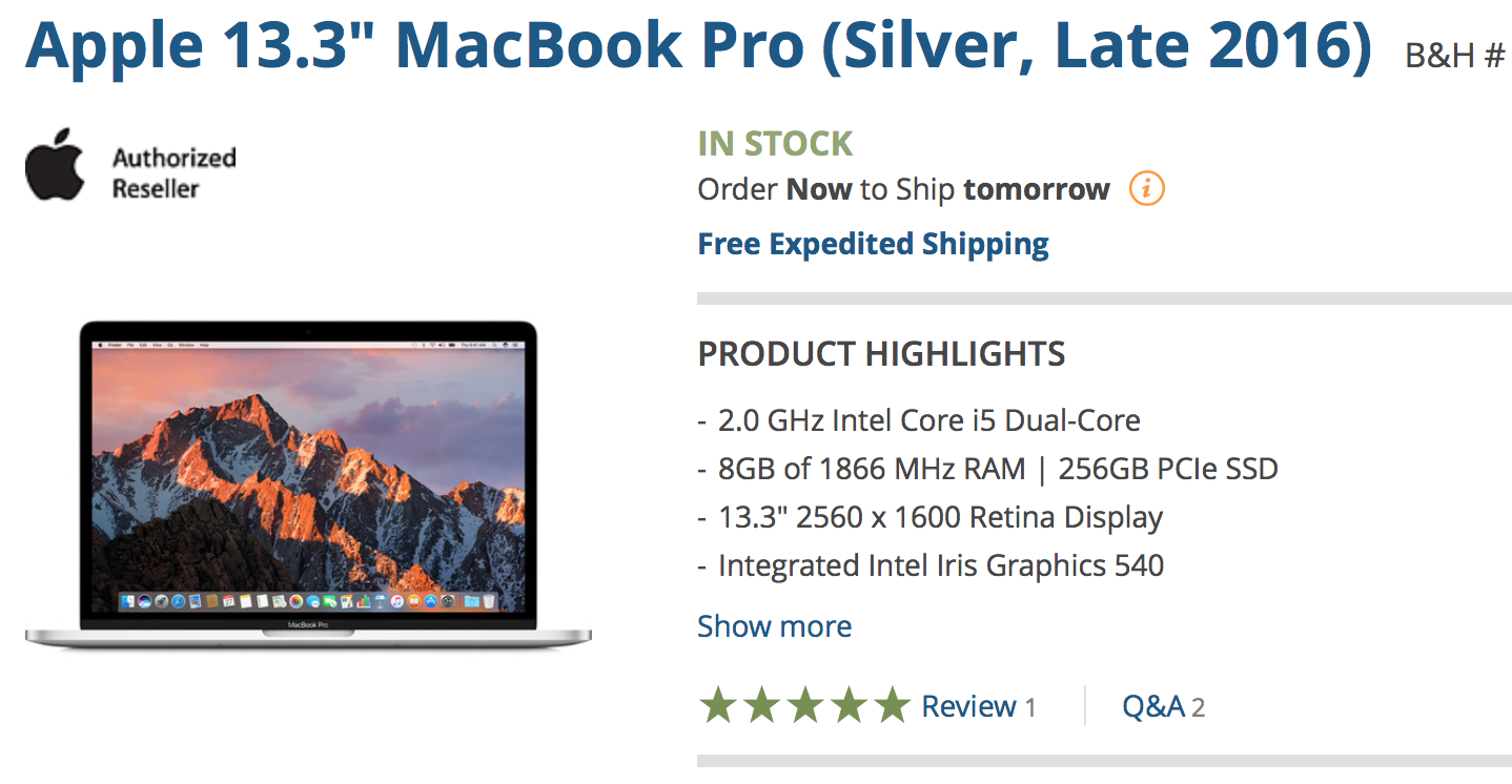Get up to $200 off the new MacBook Pro + no tax outside NY