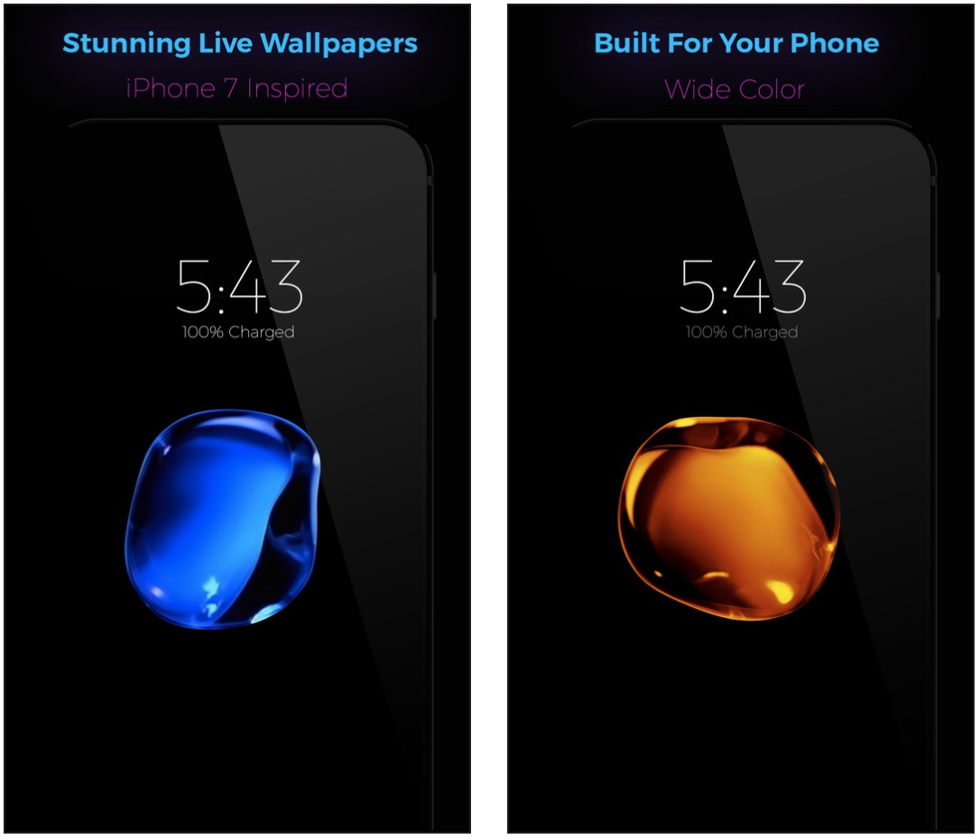 Wallpapers Of The Week Yellow Red And Blue Droplets