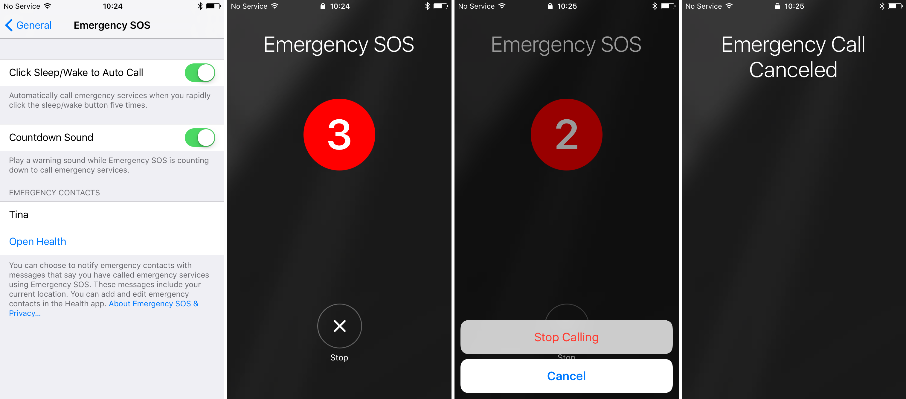 emergency sos iphone
