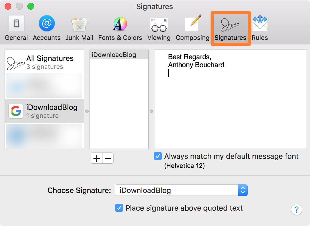 iDownloadBlog Email Signatures Tab Image