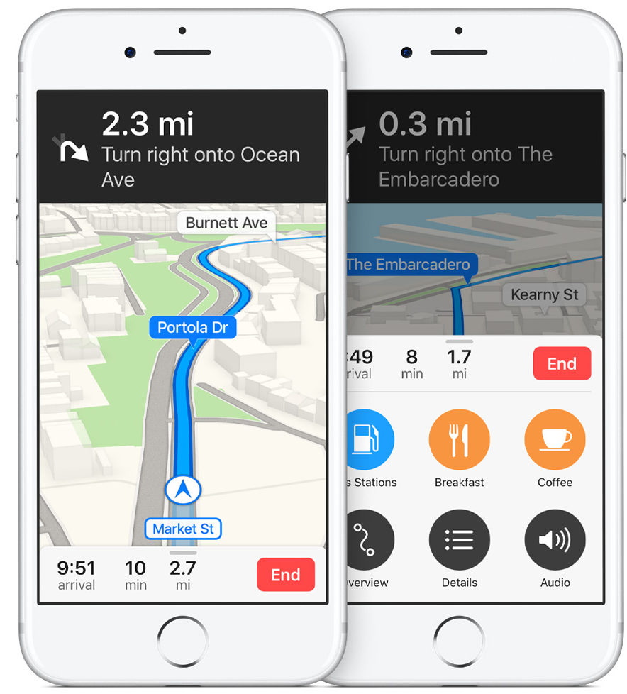 iOS 10 Apple Maps Navigation Quick Controls iPHone screenshot 002
