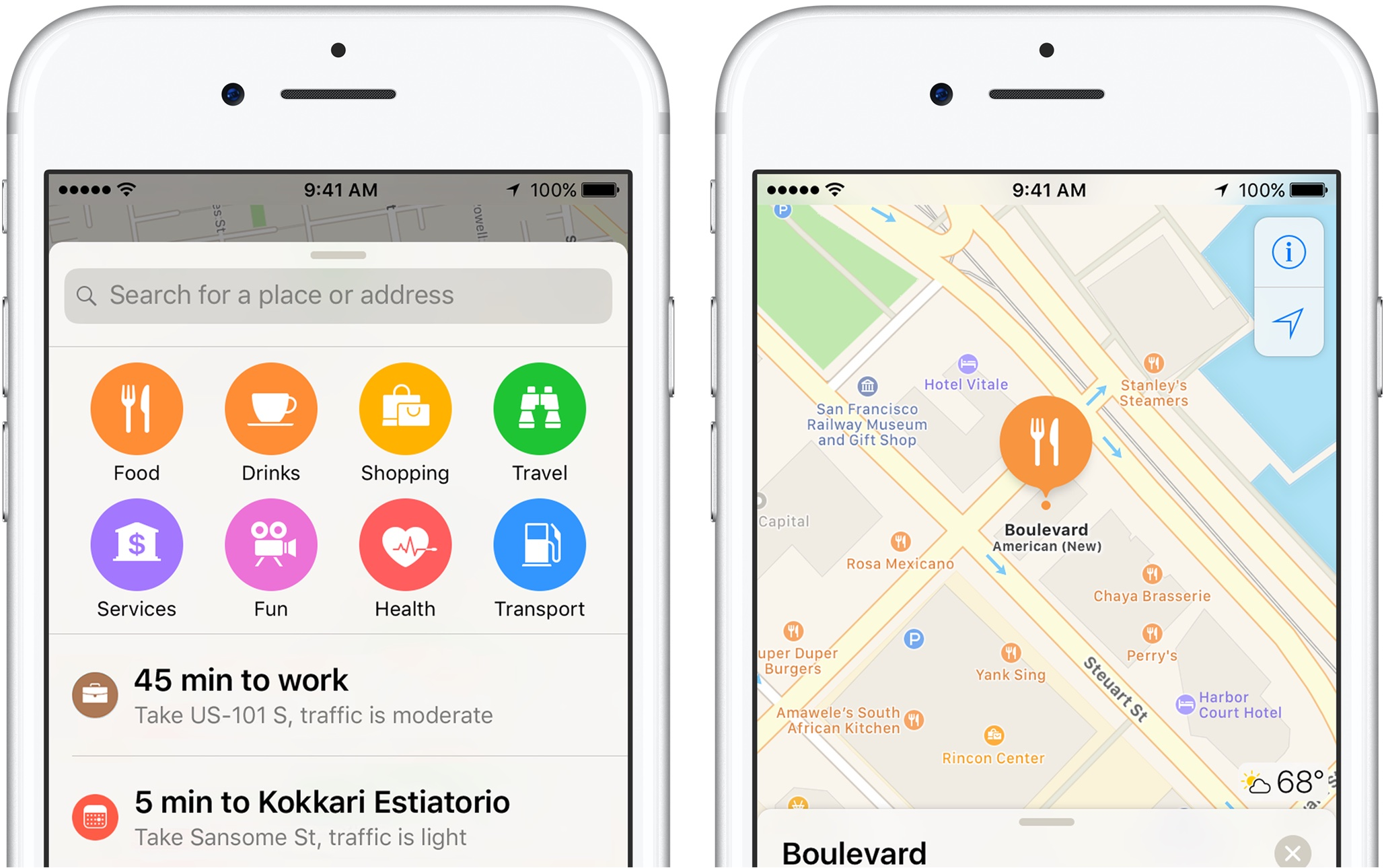 iOS 10 Apple Maps Quick Controls search along route teaser 001