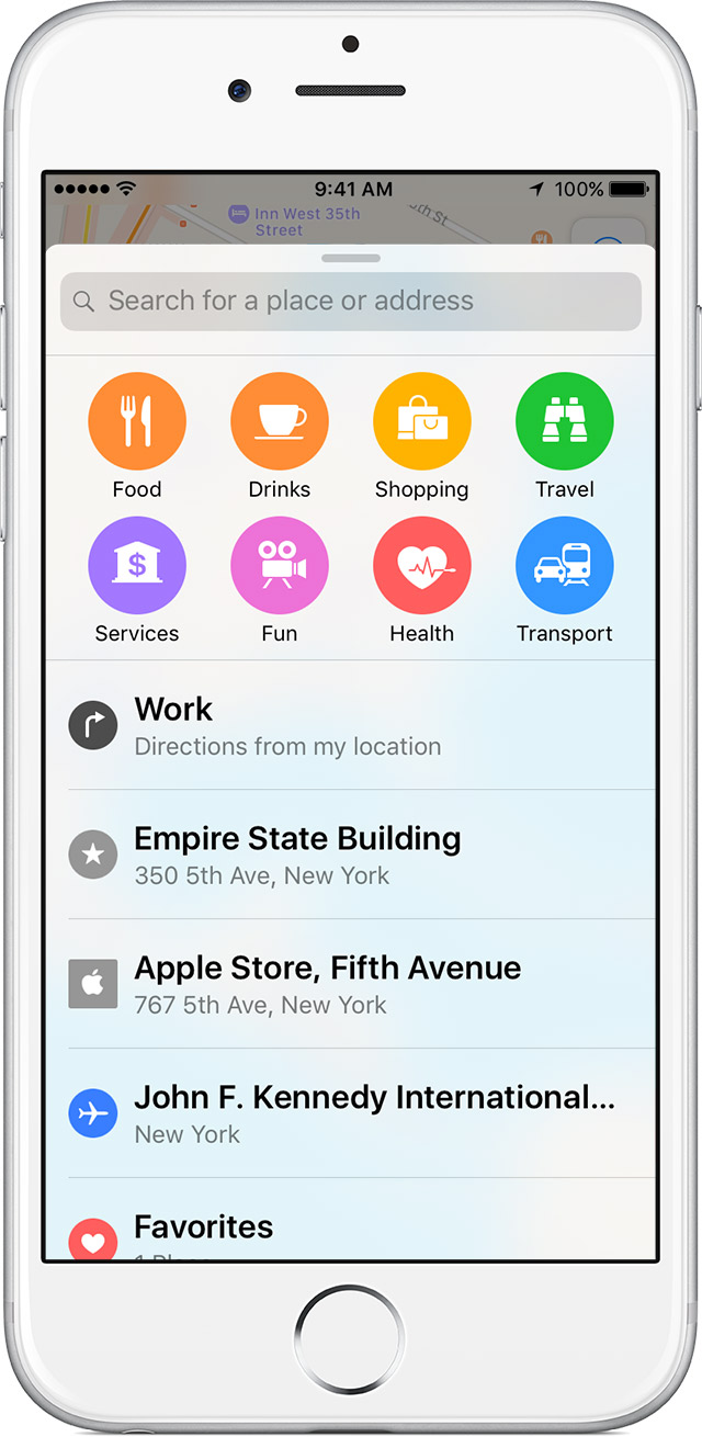 How to search along your route in Apple Maps