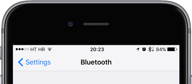 iOS 10 status bar old Bluetooth headphone icon iPhone screenshot 001
