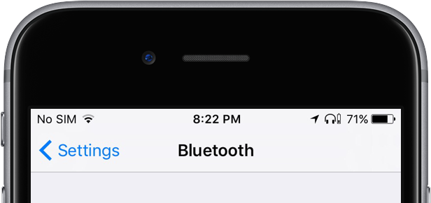 iOS 10.2 beta 1 status bar new Bluetooth headphone icon iPhone screenshot 001