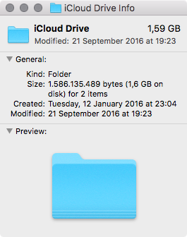 MacOS Sierra Finder barra lateral iCLoud Drive Mac captura de pantalla 002