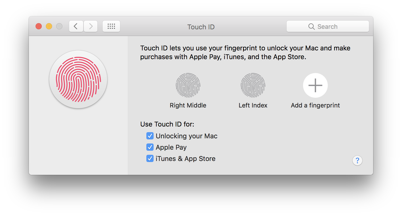 macOS System Preferences Touch ID add fingerprint Mac screenshot 004