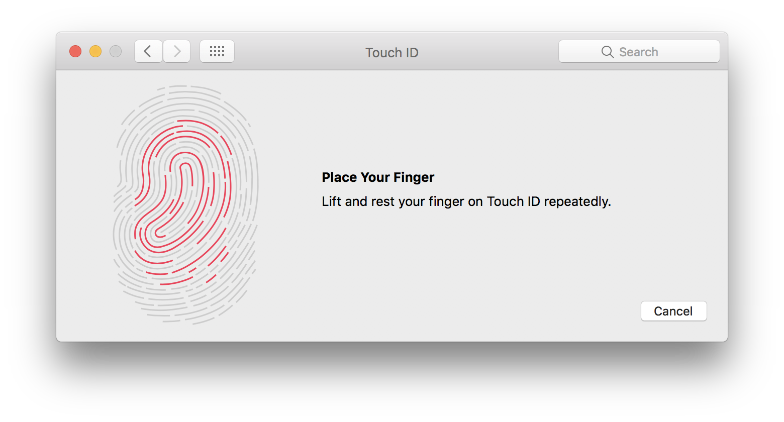 macOS System Preferences Touch ID scan fingerprint Mac screenshot 001