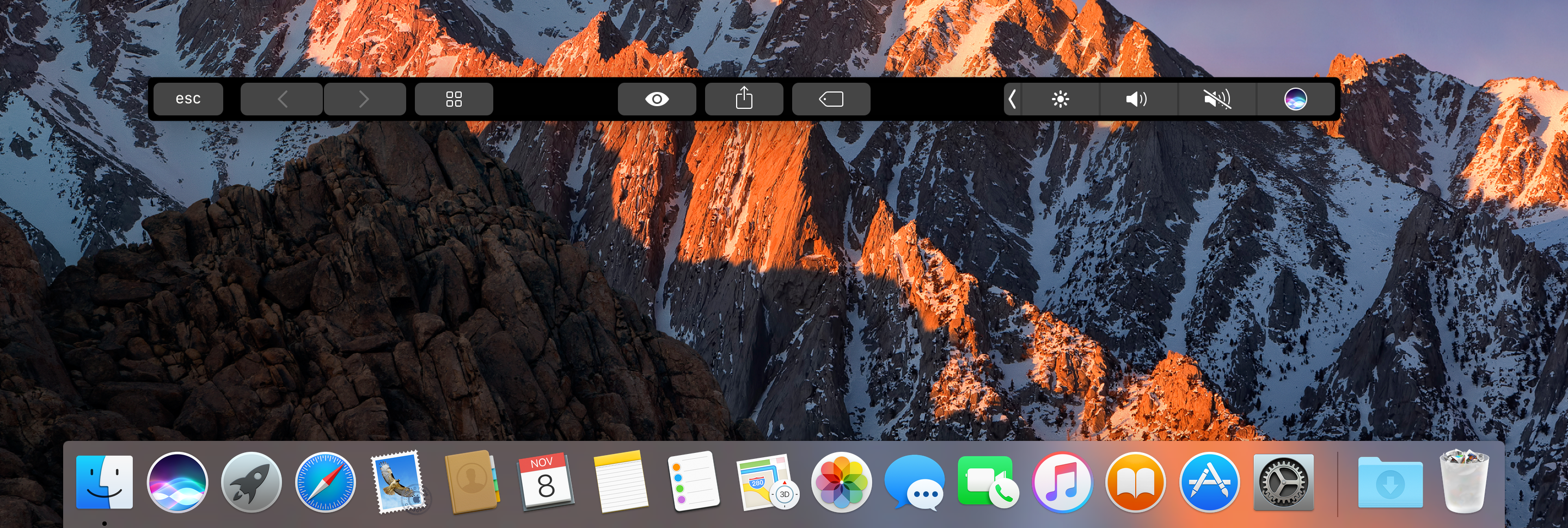 macOS Touch Bar Simulator