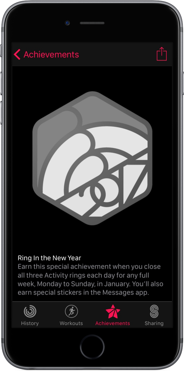 Activity challenge ring-in-the-new-year-challenge iPHone screenshot 001