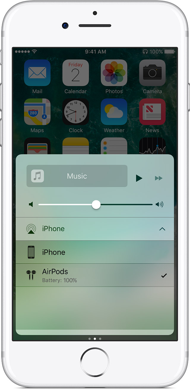 AirPods Control Center iPhone screenshot 001