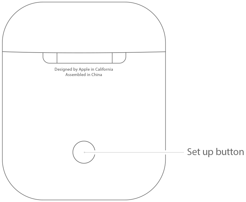 AirPods charging case pairing button drawing 001