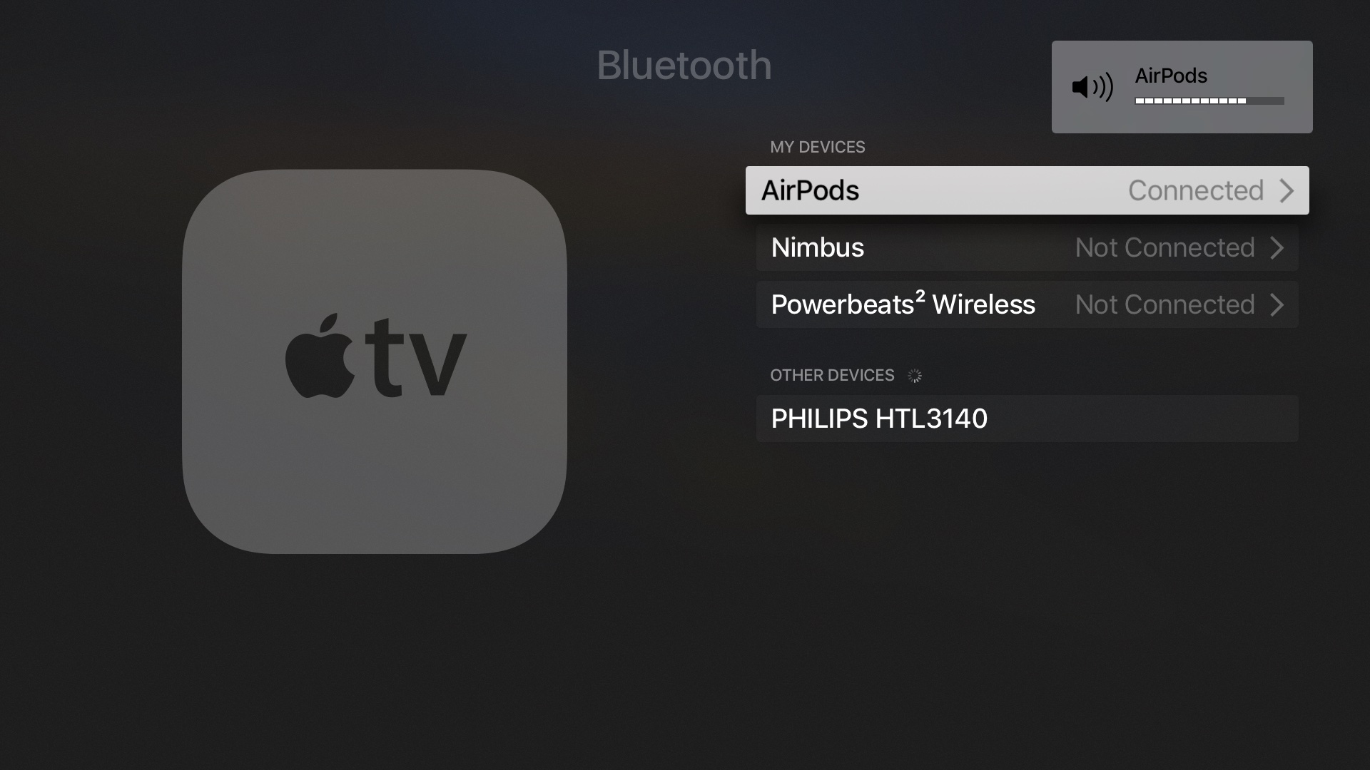 AirPods pairing Apple TV screenshot 005
