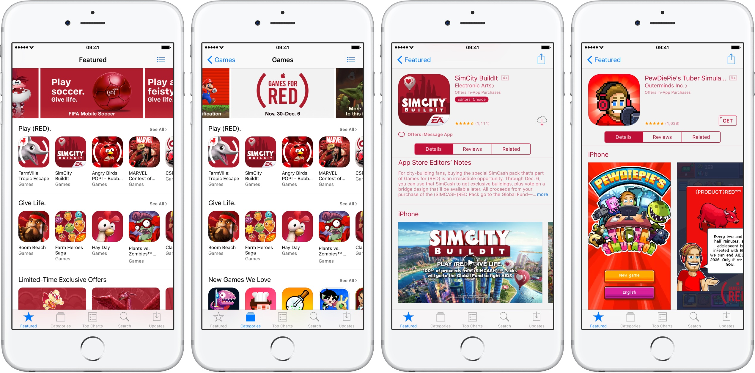 App Store RED 2016 promotion iPhone screenshot 001