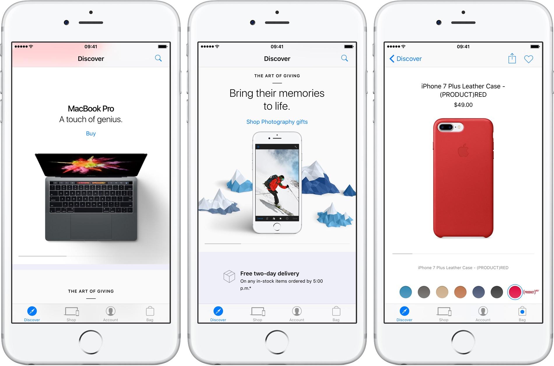 Captura de pantalla 001 de Apple Store 4.1 para iOS iPhone