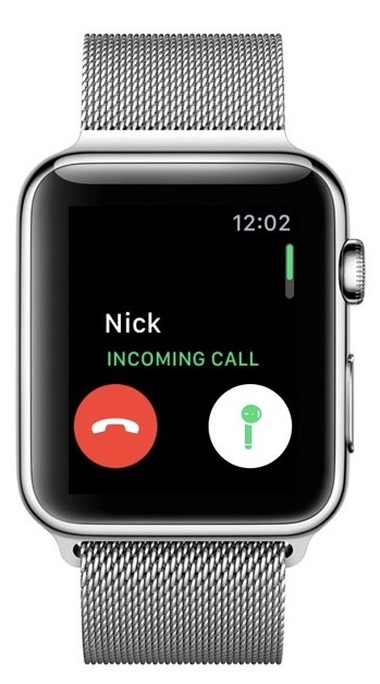 Apple Watch AirPods answer button