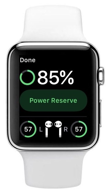 Apple Watch AirPods battery indicator