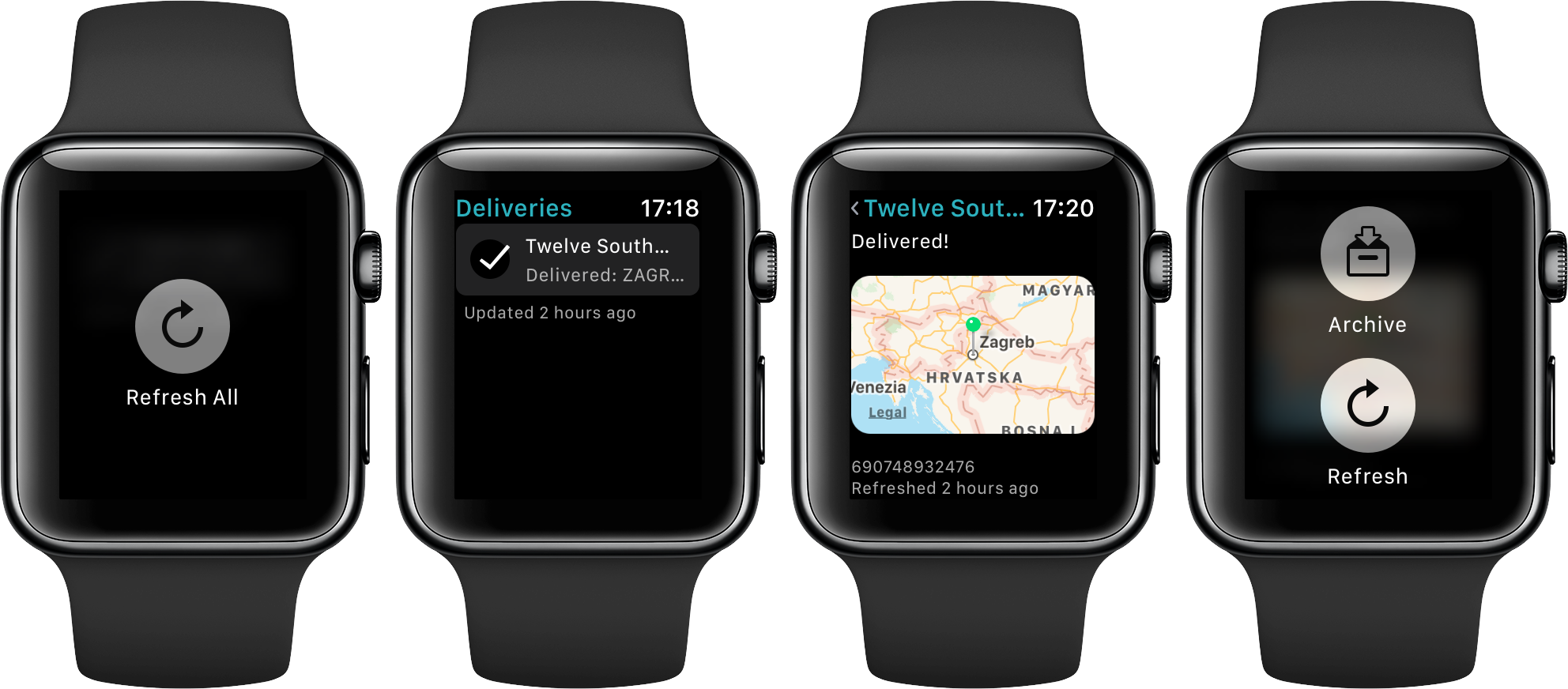 Deliveries 8.0 for watchOS 3 Apple Watch screenshot 001