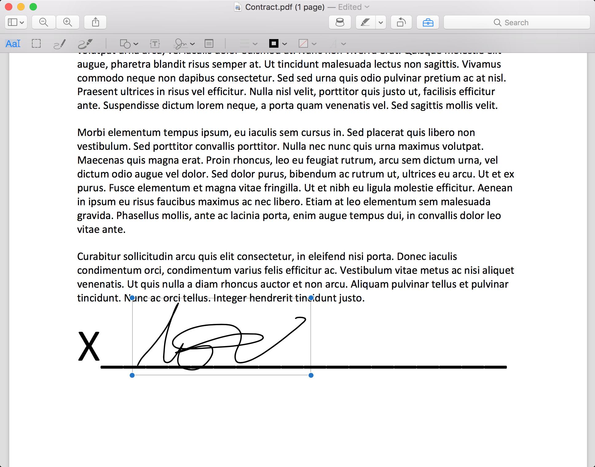 Drag Signature
