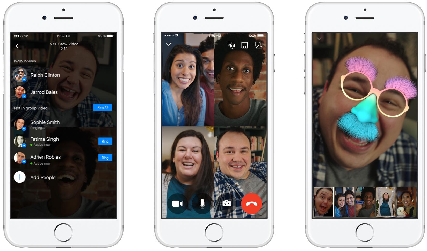 Facebook Messenger Group Video Chat iPhone screenshot 001