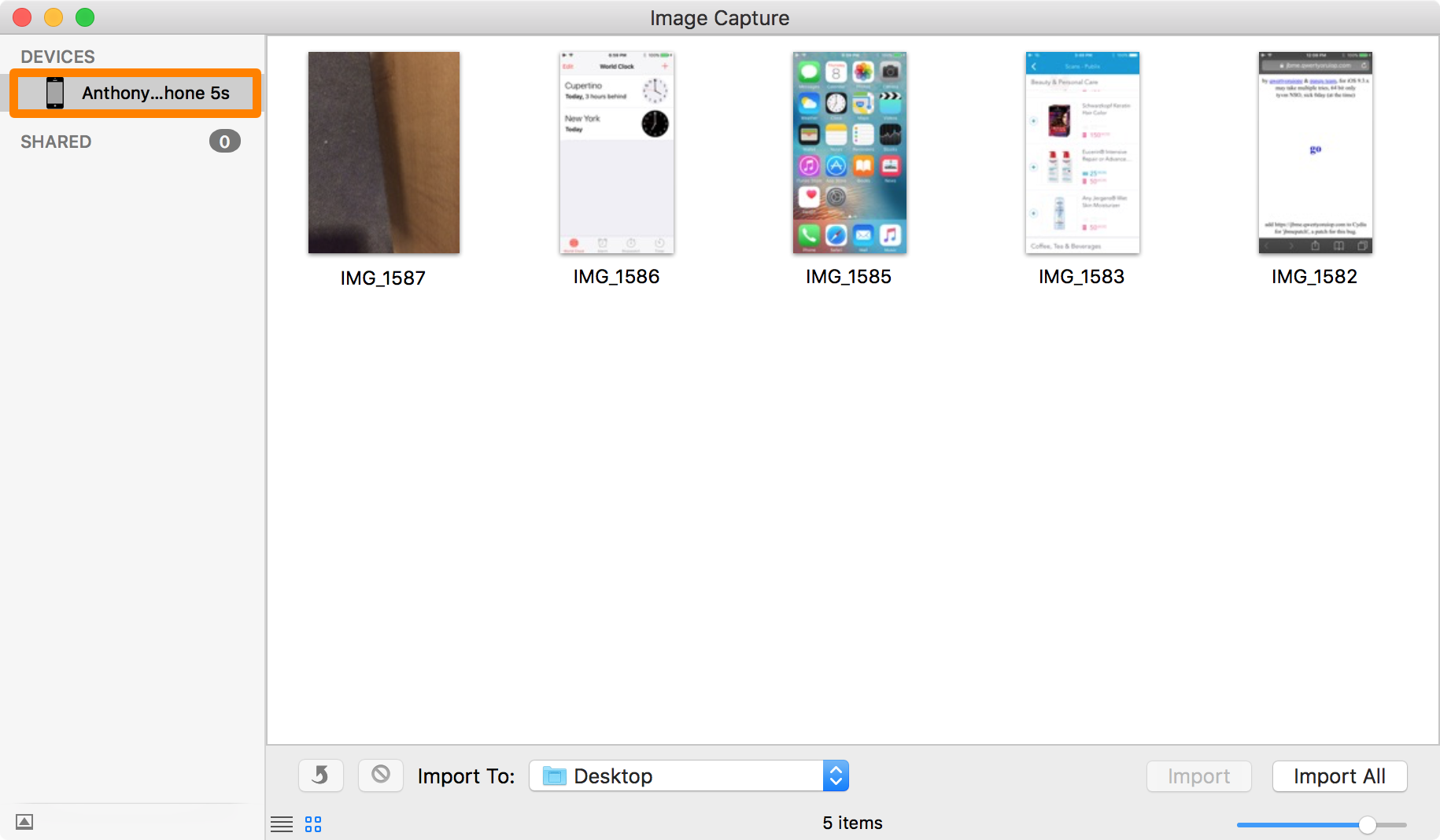 Image Capture Camera Roll Mac