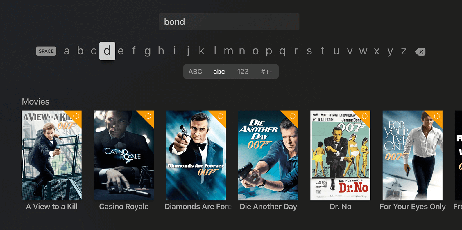 Infuse 5.1 for tvOS search Apple TV screenshot 001