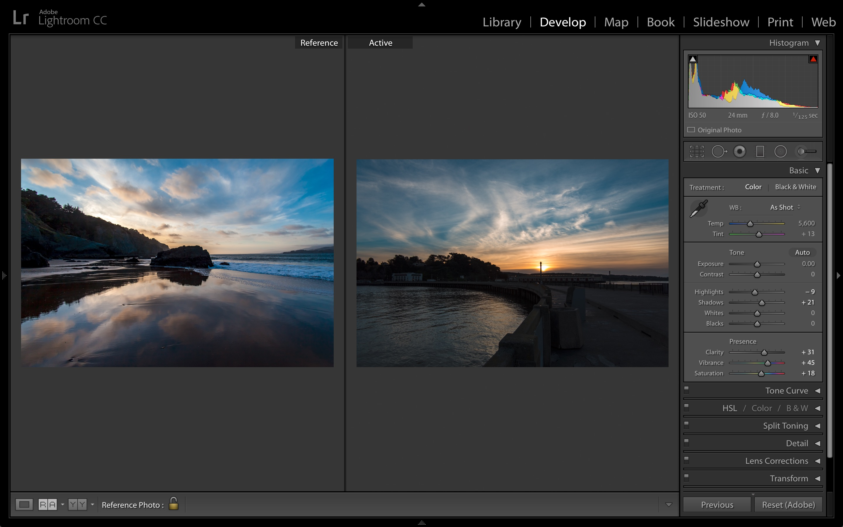 Lightroom CC 2015.8 update