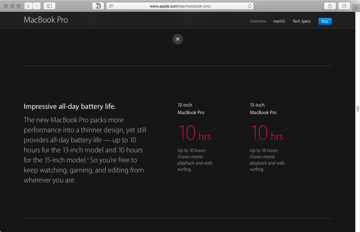 MacBok Pro battery life web screenshot 001