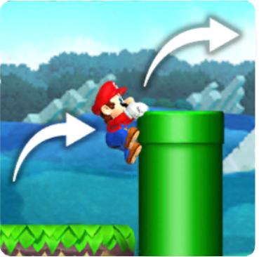 Mario Edge Climbing
