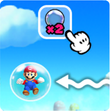Mario Enter Bubble